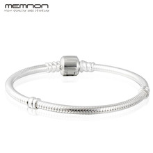 Buy Memnon 925 Sterling Silver Snake Chain European charms Bracelets Clasp women DIY fit Charms bead fine jewelry YL001 for $22.55 in AliExpress store