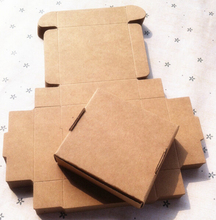 Size: 10*10*1.8cm kraft gift paper box jewelry gift box kraft ,Soap Packaging, Storage Item Aircraft box