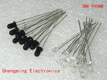 20pcs 3mm 940nm LEDs infrared emitter and IR receiver 10pairs diodes F3 NEW 300A(China)