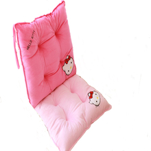 Cartoon Seat Back Cushion Super Soft Plush Office Chair Mat Cute Monkey Student Chair Cushion 40x40cm