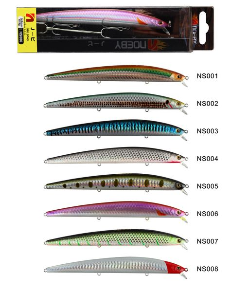 8 pieces 145mm/19g  9049 noeby lure<br><br>Aliexpress