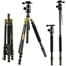 K&F CONCEPT Professional Carbon Fiber Photographic Portable Tripod to Monopod+Ball Head+Carry Bag for Canon Nikon Digital Camera(China)
