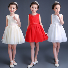 Girls princess dress for 5--15 years old for party kids wedding gowns baby clothes flower fashion elegant summer style cheap