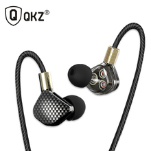 QKZ KD6 In Ear Earphone With Microphone 6 Dynamic Driver Unit Stereo Sports HIFI Subwoofer Earphones Monitor Earbuds Headsets(China)