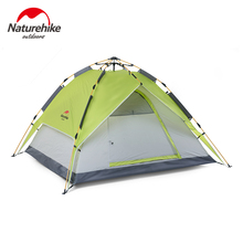 Naturehike Camping Tent 2-4 Person Four Season Automatic Tent Double Layer Canopy Awning Sunshade Shelter Camping Equipment(China)