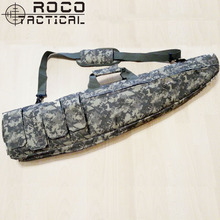 ROCOTACTICAL 1M Sniper Tactical Rifle Drag Bag Airsoft Military Gun Drag Bag Army Scoped Rifle Gun Case w/One Shoulder Strap(China)