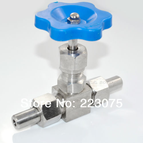 Free shipping 1 Stainless Steel SS304 High pressure Needle Valve + 2 weld ends DN25<br>