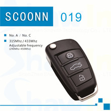 5pcs SK019 folding car key, auto key, fixed code remote,NO.A 434MHz copy remote for digital counter, lock smith remote copier(China)