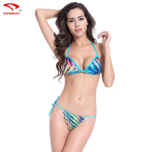 New Hot Push Up Brazilian Biquini Swimsuits Swimwear Women  Mini Bottom Removable Padding Fully Lined Polyester Bikini Sets