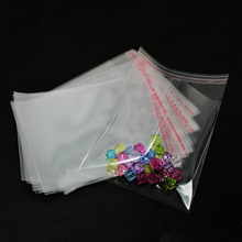 200Pcs Clear Candy Cookie Bags Wedding Birthday Party Craft Self Adhesive Plastic Biscuit Packaging Gift Bag(China)