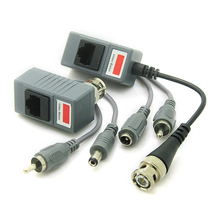 CCTV Transceiver Twisted Pair RJ45 UTP Balun BNC Audio Video DC Power CAT5(Hong Kong,China)