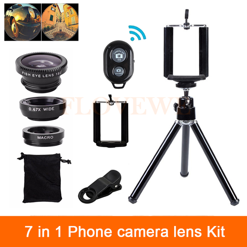 7in1 Camera font b Lenses b font Kit Wide Angle Macro Fish eye font b Lens