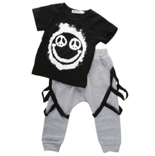 Clothing Sets Newborn Toddler Infant Kids Baby Boy Clothes Set Summer Cute Minions Animals T-shirt Tops + Pants Outfits Set Boys(China)