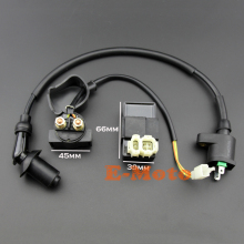 Gy6 50cc 125cc 150cc Scooter Atv Ignition Coil + Starter Relay + 6 Pin AC CDI Moped ATV Go Kart Taotao E-Moto