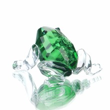 H&D X'mas Gifts Crystal Frog Figurines Paperweight Crafts Art&Collection Table Car Ornaments Souvenir Home Wedding Decoration(China)