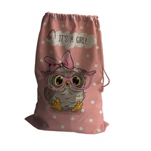 Cute The owl and Cute Squirrels Pattern Storage Bag Storage Travel Multi Functional Case Bag Fashion