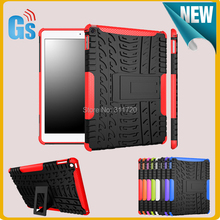 2 In 1 Rubber Hard Cover Kickstand Hybrid Combo Case For iPad 6 Air 2 Free Ship