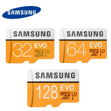 Samsung EVO U3 64GB Memory Card 128GB Micro sd card Class10 UHS-1 Speed Max 100M/S Microsd 32GB(U1 95M/s) for Tablet Smartphone(China)