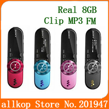 Real 8GB music player sport mp3 B152F for sony with clip + FM Radio +Pen USB Flash Drive Recording digtal MP3 music player