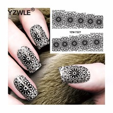 YZWLE 1 Sheet DIY Decals Nails Art Water Transfer Printing Stickers Accessories For Manicure Salon  YZW-7327