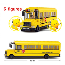 392pcs School Bus Building Block Yellow Bus Building Block Eductional Toy Sluban Building Block DIY Bricks Compatible With Lego(China)