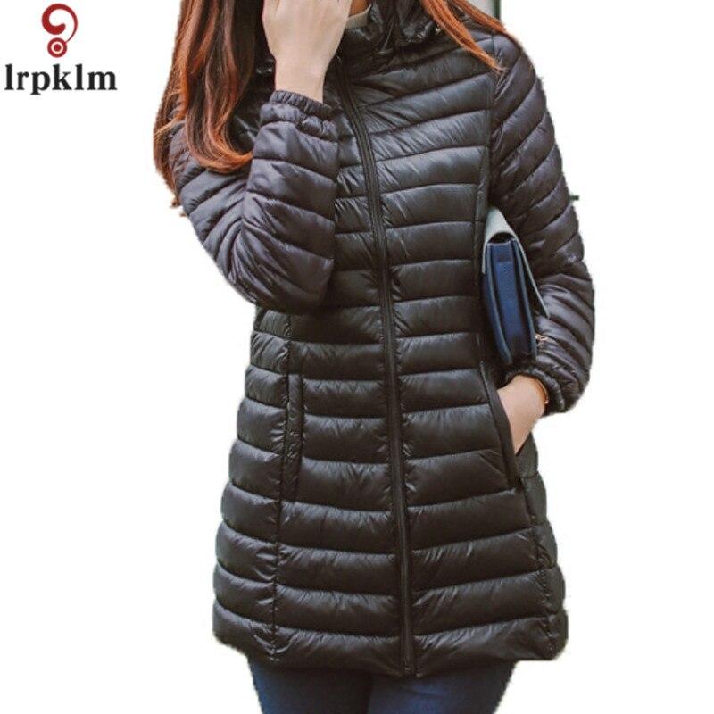 Winter Jacket Women Parkas 2017 Warm Winter Coat Women Ultra Light Thin Slim Hooded Cotton Jackets Plus Size 5XL LZ128Îäåæäà è àêñåññóàðû<br><br>