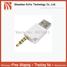 KUYiA Free Shipping+tracking number! 20pcs/lot 3.5MM to USB Adapter for the shuffle 2 Generation