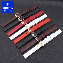 BRETA 6MM 8MM 10MM leather strap black brown white needle buckle ultra-thin strap for for ladies quartzfashion watch accessories(China)