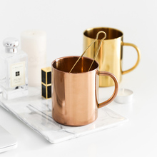 Nordic metal copper plating mugs stainless steel coffee beer mug gold milk cup swig wine home kitchen bar office drinkwares gift(China)