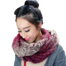 2017 Korean Warm Winter Women Wool Scarf Famous Brand High Quality Knitted LIC Scarves Women Spring Multicolor Crochet Shawls(China)