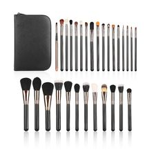 Professional Luxury 29 Pcs Leather Bag Of Makeup Brushes Set Kits Make Up Cosmetics Lipstick Eyeshadow Powder Brush + Bag(China)
