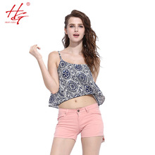 S29 2016 summer fashion camis women  floral printed  tops girls  casual style sleeveless camis feminino vest striped