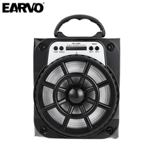 EARVO MS-135BT Wireless Bluetooth Powerful 15w Outdoor Portable LED Light Speaker Subwoofer Music BoomBox Speakers TF Radio USB