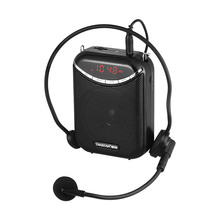 Portable Multimedia Voice Amplifier 10W Stereo Speaker with Wired Microphone Supports USB & TF Card FM Radio & Voice Recording(China)