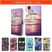 100% Special Luxury PU Leather Flip Cartoon wallet case Book case for Highscreen Easy L L pro,gift