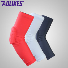 AOLIKES 1PCS Hex Honeycomb Sponge Basketball Arm Sleeves Anti-crash Compression Armband Sport Elbow Pads Coderas Protector(China)