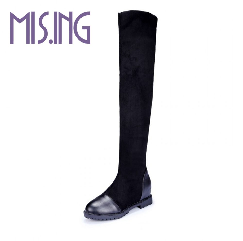 New fashion women shoes Stovepipe Knight boots sexy party women boots Stretch Fabric Over-the-Knee longboots big size 34-43<br><br>Aliexpress