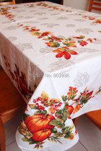 Free shipping-48% polyester+52% cotton jacquard harvest season Buu style table cloth