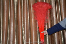 "New listing! Free wholesale 50pcs / high quality red peacock feathers, 75-80 cm / 30-32 ""peacock eye decoration DIY"
