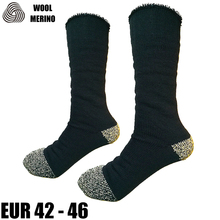 Merino Wool Men Crew Socks Plue Size Winter Thermal Super Warm Long Work Socks Men's Full Cushion Socks EXMSM002A(China)