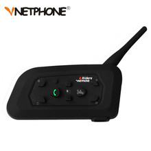 Vnetphone V6 Motorcycle Bluetooth 3.0 Helmet Intercom Headsets 1200M Motorbike Wireless BT Interphone Helmet Intercom