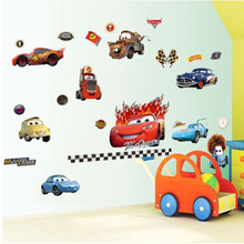 50cm*70cm Pixar Cars Stickers Children Cartoon Wall Sticker Kids Room Vinyls Removable Decal Decals For Walls Mural Nursery Art