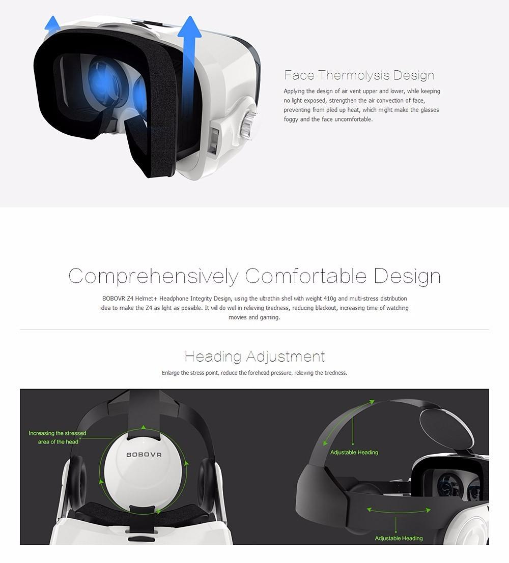 Virtual Reality Google Cardboard VR BOX Original bobovr Z4/ Z4 Mini 3D glasses+Bluetooth Controller for 4-6' Smart Mobile Phone 20