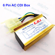 Ignition Racing AC CDI Box 6 Pin For 50cc 110cc 125cc 150cc 200cc 250cc ATV Quad Pit Dirt Bike ATV Quad Scooter Motorcycle