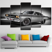 HD Printed 5 Pieces Modern Home Decor Frame Car Pictures Posters 1970 Plymouth Road Runner Canvas Paintings Living Room Poster(China)