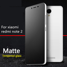 Frosted Tempered Glass Screen Protector for Xiaomi HongMi RedMi Note 2 Note2 5.5inch No Finger Print Matte Film Anti Blue Ray