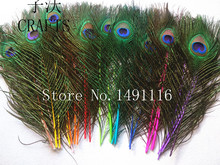 Free shipping 10 pc 10-13inches / 25-32cm 100% high quality natural peacock feather DIY Art Deco fittings(China)