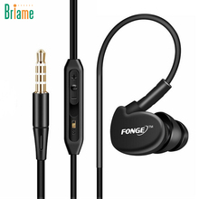Briame Ear Hook Sport Earphone Sweatproof Running Headphone Headset With Mic for iPhone Xiaomi Sony Super Bass Sport Headphones(China)
