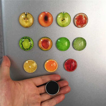 1pcs Fruit Fridge Magnet Home Decoration Lemon Refrigerator Sticker Decals Glass Cabochon Notes Message Holder Sticker