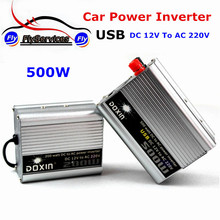 2017 DC12V to AC 220V 500W Power Inverter With USB Charger Converter Adapter DC 12 to AC 220 Modified Sine Wave Plenty In Stock(China)